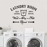 decalmile 'Laundry Room Pegatinas De Pared Letras and Frases Patrón Desmontable Adhesivos Pared Decorativos para Cuarto De Lavado Baño