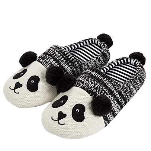 Yvonnelee Pantoffels pantoffels panda lief slipvast knuffelig winter, panda meisjes heren kind