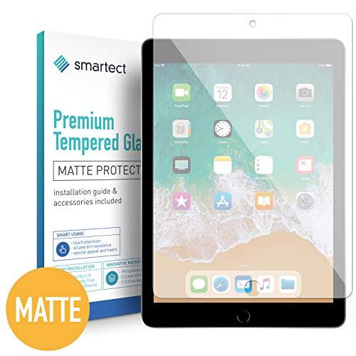 smartect Mat Beschermglas compatibel met iPad 2018 / iPad 2017 / Pro 9.7 / Air/Air 2 [Matte] - screen protector met 9H hardheid - bubbelvrije beschermlaag - antivingerafdruk kogelvrije glasfolie