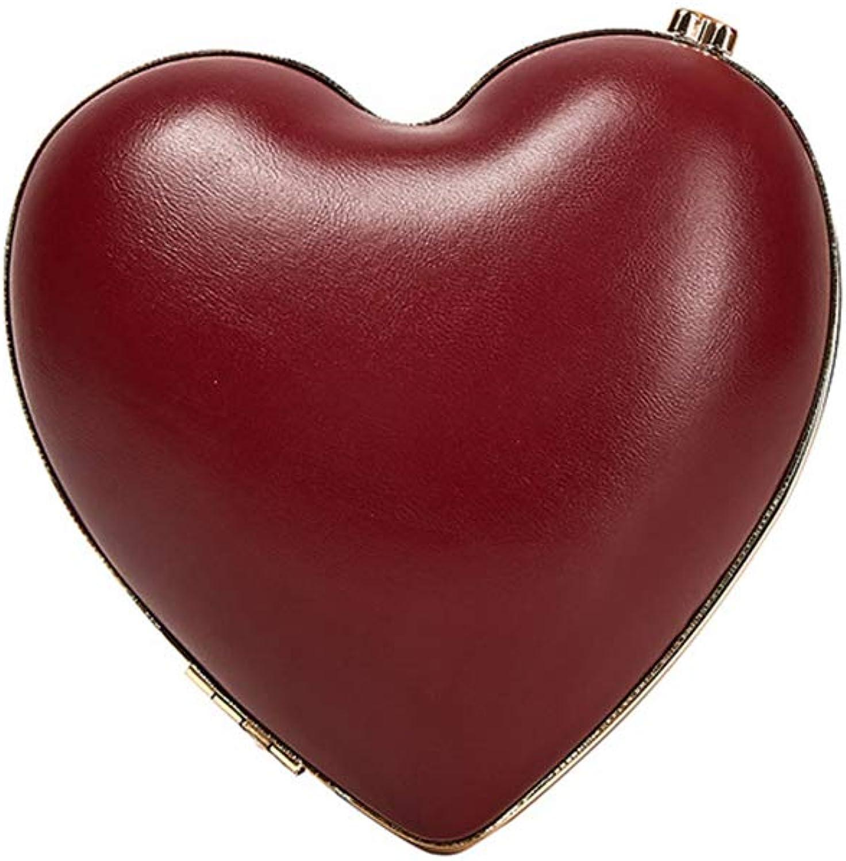 Qzny Qzny Qzny Damen Abendtasche, herzförmige Abendtasche Fashion Love Dinner Bag Lady Handtasche Crossbody Braut Brautjungfer Party Bag (Farbe   EIN, Größe   15  15  5cm) B07KG437FY  Super Handwerkskunst 244b78