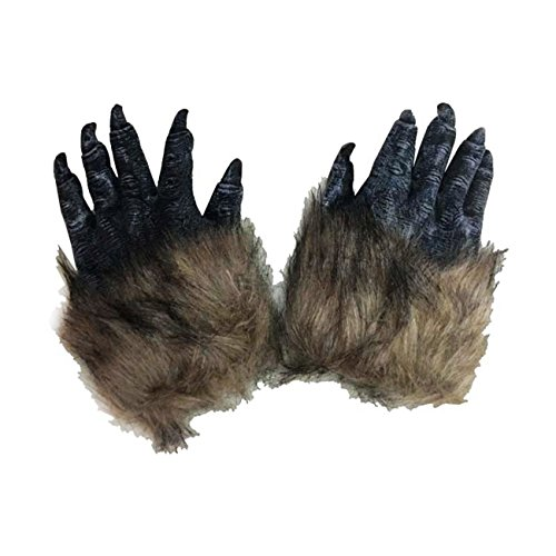 THEE 1 Par de Guantes de Lobos Garras Accesorios de Disfraz para Halloween