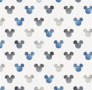 Changing Pad Cover - Blue Watercolor Mickey Mouse