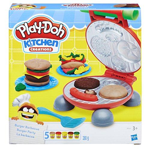 Hasbro Play-Doh-B5521EU6 Play-Doh Kitchen Creations Il Burger Set, Colore, 0816B5521EU6