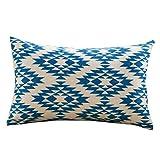 Funda de Almohada Geométrica Rectangular Decorativos Funda Cojin 30X50 cm para Cama Sofás Sala de Estar Dormitorio Sala de Estudio Jardín Coche