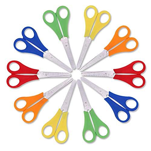 Firtink 10 Stück Kindersicherheitsschere Vorschulschulungsschere Kunststoffgriff Handgefertigte Schere für Kinder und Schüler Papierbauzubehör