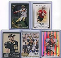 Drew Brees New Orleans Saints Assorted Football Cards 5 Card Lot