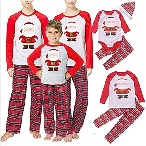 QNONAQ Navidad A Juego Pijamas Coincidencia de Navidad de la Familia Pijamas Set Familia Ropa de Fiesta de Navidad for Adultos niños Pijamas Set algodón bebé Romper Ropa de Dormir (Size : Children 5)