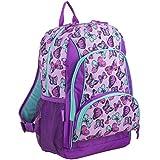 Eastsport Multi Pocket School Backpack, Colorful Butterflies/Grape Sizzle