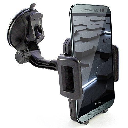 KFZ Halter z.B. kompatibel mit HTC U12 U11 U Ultra Play 10 One M9 M8 M8s A9 A9s X9 E9 E8 X X10 ME Max Mini 2 S Desire 12 10 830 828 Life Plus Eyes Ultra Evo Lifestyle Pro compact + mehr Auto Halterung