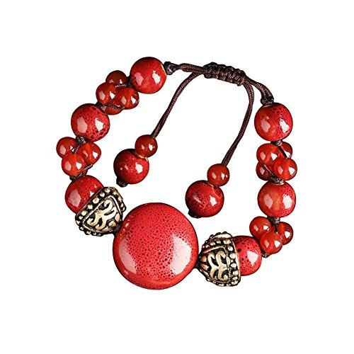 Chinese Style Bijoux Tissé Bracelets ethniques main Agate Bracelet Retro