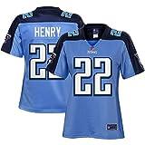 NFL PRO LINE Women's Derrick Henry Light Blue Tennessee Titans Historic Logo Alternate Player Jersey