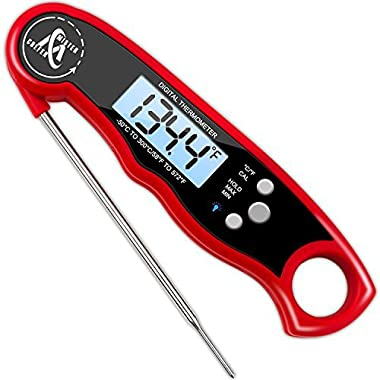 Digital Meat Thermometer - Best Waterproof Instant Read Thermometer with Calibration and Backlight functions - Mister Chefer Food Thermometer for Kitchen and Outdoor Cooking
