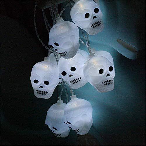Wondder Cabeza Fantasma LED Luces de Halloween Luces de Cuerda Batería para Bar Casa de Vacaciones Fiestas Temáticas de Halloween Suministros de Decoración