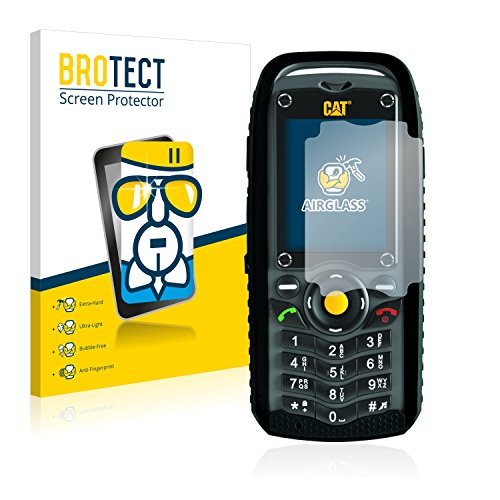 BROTECT Panzerglas Schutzfolie kompatibel mit Caterpillar Cat B25 - AirGlass, 9H Festigkeit, Anti-Fingerprint, HD-Clear