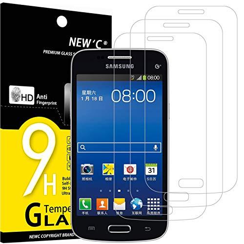 NEW'C 3 Unidades, Protector de Pantalla para Samsung Galaxy Trend Lite, Antiarañazos, Antihuellas, Sin Burbujas, Dureza 9H, 0.33 mm Ultra Transparente, Vidrio Templado Ultra Resistente