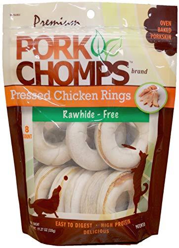 Scott Pet Pork CHOMPS 3' Real Chicken Rings 8CT