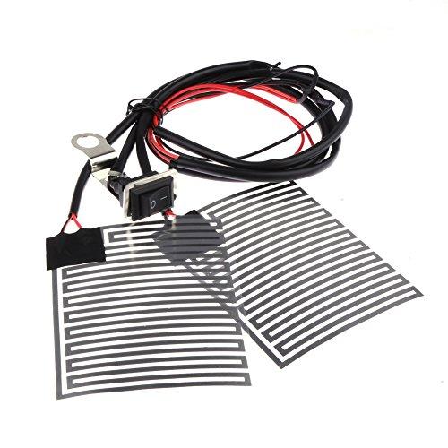 Everpert - Juego de manillar eléctrico para motocicleta (12 V, con calefacción)