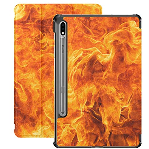 Blaze Fire Flame Texture Galaxy 7 Case For Samsung Galaxy Tab S7/s7 Plus Samsung Galaxy S7 Plus Tablet Case Stand Back Cover Galaxy S7 Plus Case For Galaxy Tab S7 11 Inch S7 Plus 12.4 I