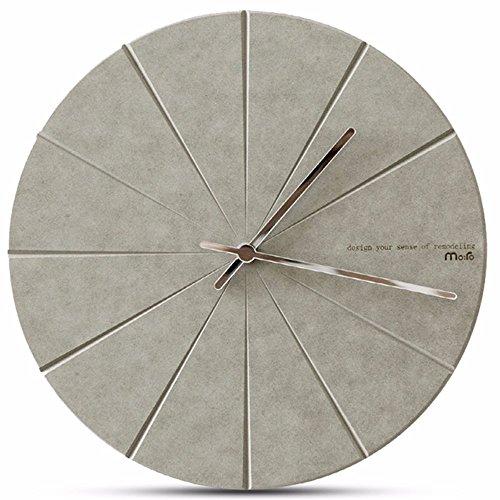 QMPZG-Wohnzimmer modern minimalistische Mode Uhr, Schlafzimmer ruhig Persönlichkeit-Uhr