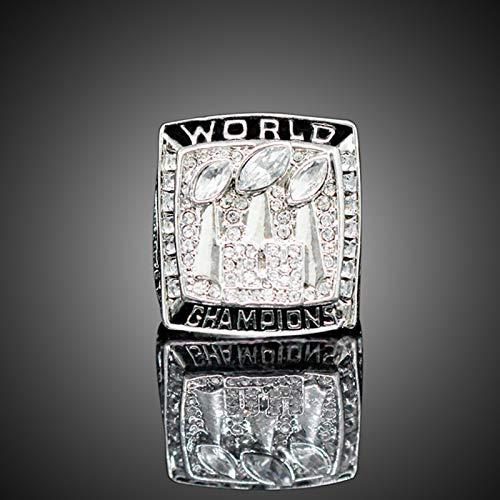 YANGLIXIA Anillo de Campeonato Mundial de los Gigantes del Fútbol Americano, Rugby Sports Fans Souvenirs Men Fan Gifts Ring Box 11#
