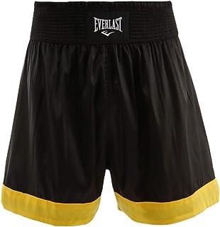 Shorts Everlast Muay Thai Basic - Preto-Amarelo