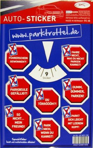 Kaufmann Neuheiten AZ-KFZ-100 Parktrottel Auto-Sticker