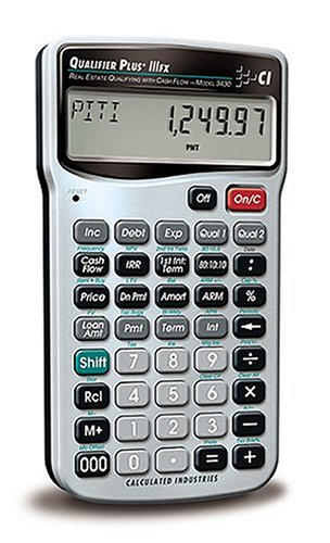Calculated Industries 3430 Qualifier Plus IIIfx Advanced Real Estate Mortgage Finance Calculator | Clearly-Labeled Keys | Buyer Pre-Qualifying | Payments, Amortizations, ARMs, Combos, FHA/VA, More