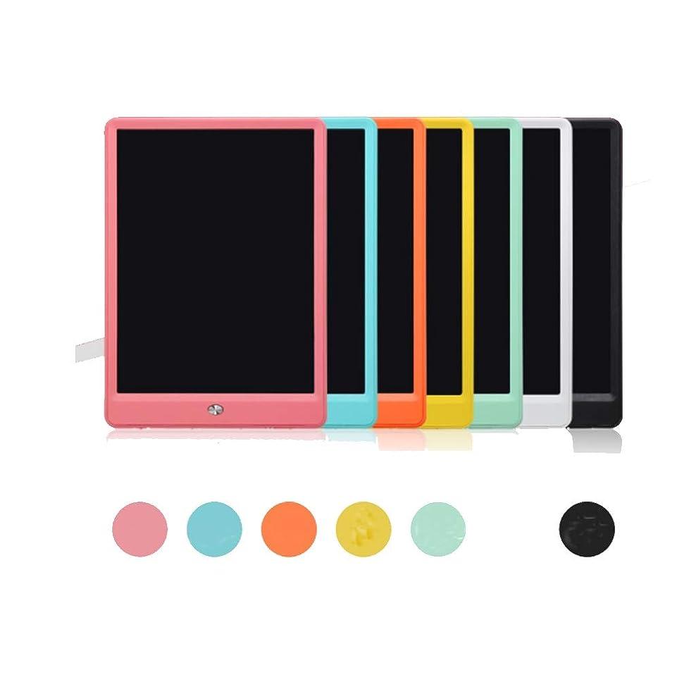 差し迫った固める浜辺タブレット消去可能な早期教育電子LCDライティングボードタブレット部分消去可能な子供の小さな黒板絵画落書きライティングボードギフト (Color : YELLOW, Size : 25*17.4CM)
