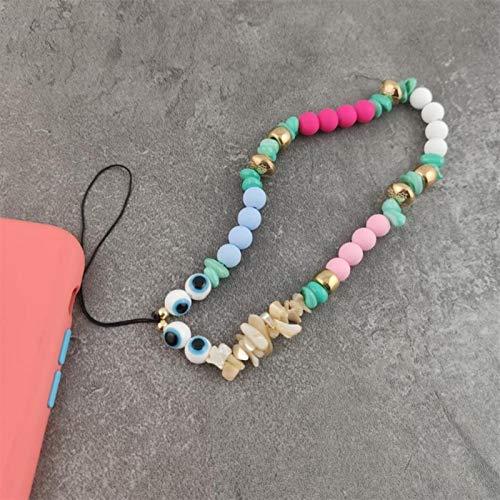 ASDFG Elegante Blumen Glocke Schlüsselanhänger Lanyard Fashion Smile Letters Handy Strap