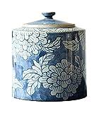 Urna para Cenizas Artículos Ceremoniales GWXXJ Mini Recuerdo cremación urna for Cenizas, Pintado a Mano Pintura China Azul y Negro, Funeral pequeño Miniatura Memorial simbólico Urna FENGNV1029