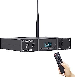 [Upgraded] Fosi Audio DA2120C Bluetooth Amplifier 120Wx2 Stereo Hi-Fi 2.1 Channel Wireless Stream aptX, 24Bit/192kHz Class...