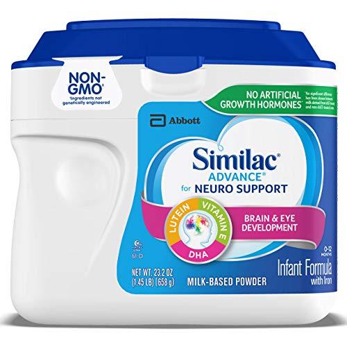 Similac Advance For Neuro Support, Non-GMO Infant Formula with Iron, Baby Formula Powder, 23.2 oz...