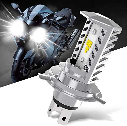 H4 9003 HB2 High Low Beam Led Headlight Bulb for BMW KTM Aprilia Ducati Buell Can-Am Harley Davidson Yamha Honda Kawasaki Suzuki Triumph Victory Motorcycle Bikes,6000K