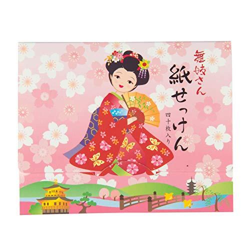 Red Kimono Meisje Japanse Zeep Papier