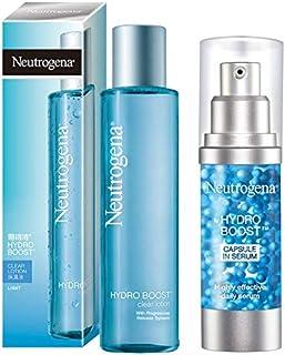 Neutogena Hydro Boost Clear Lotion (Hydrating Toner), 150 ml & Neutrogena Hydro Boost Capsule In Serum, Transparent, 30 ml