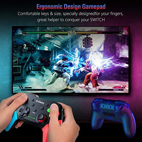 Gamory Ersetzen für Switch Bluetooth Wireless Controller Mit Einstellbarem Turbo und Dual Shock Joysticks Spiele Handkonsolen