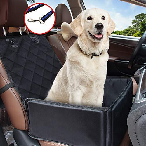 Yikaich Hundesitz Auto Hunde Autositz Rückbank & Vordersitz Transportbox Wasserdicht, für Kleine Mittlere große Hunde