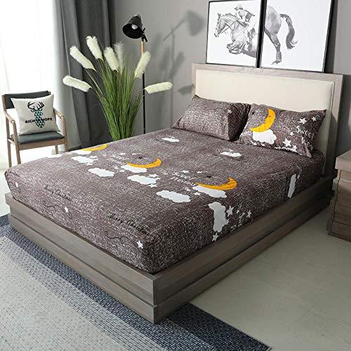 XGguo Protector de colchón Acolchado - Microfibra - Transpirable - Funda para colchon estira hasta Sábana Impermeable cepillada impresión en Color sólido-10_120x200x28cm