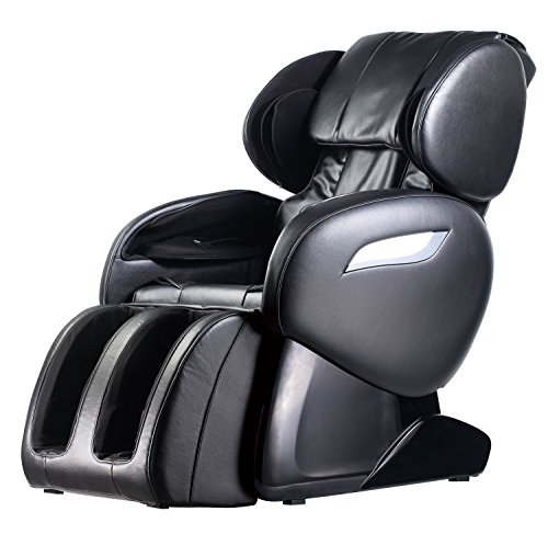BestMassage Electric Shiatsu FDA Approved Chair Recliner with Built-in Heat Therapy and Foot Roller Air Massage System Stretch Vibrating for Home Office,Black, style1