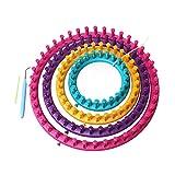 4 tamaños/Set Redondo Knitter Looms Kit de Herramientas Creative Hat Sweater Sweater Circle Loom Hand Knitting Punto Loom al Azar