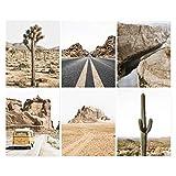 Arizona Wandkunst, Set von 6 Drucken, Desert Print, Desert