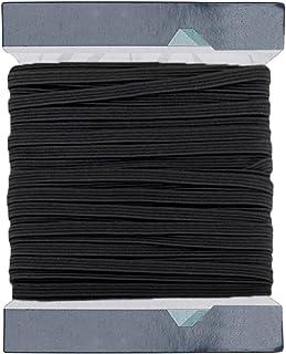 Trimming Shop Czarny i biały – 5 mm szerokości na płasko tkana elastyczna taśma do szycia, robienia na drutach, ściągacz s...