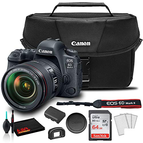 Buy Discount Canon EOS 6D Mark II DSLR Camera with 24-105mm f/4L II Lens (1897C009) + Canon EOS Bag ...