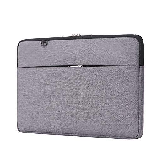 GUOCU Wasserabweisend Neopren Hülle Sleeve Tasche Kompatibel mit 11-15.6 Zoll MacBook Pro, MacBook Air, Notebook Computer Laptophülle Laptoptasche Notebooktasche,Grau,15