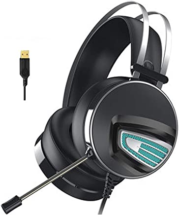 Gaming Headset per PS4 PC, 7.1 Surround Sound Stereo Noise Reduction Cuffie da Gioco Professionali USB con Microfono Compatibile con PC, Xbox One, PS4, Nintendo Switch e dispositivi mobili-Black - Trova i prezzi più bassi