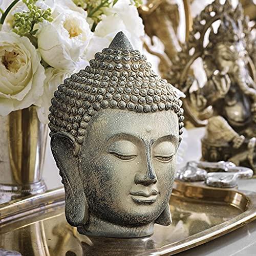 OwMell Buddha Statue, 6.7' Antique Buddha Head Zen Decor Meditation Decor