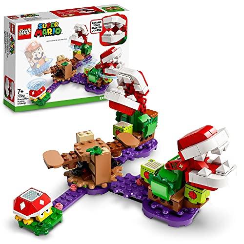 LEGO 71382 SuperMario Ensembled'ExtensionLedéfidelaPlantePiranha Jeu modulable de Collection Soda Jungle avec Figurine