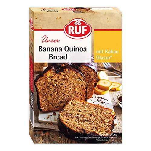 RUF Banana-Bread mit Quinoa, frischen Bananen und Kakao-Glasur , 7er Pack (7 x 560 g)
