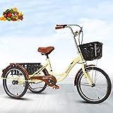 Triciclo Bicicleta de 3 Ruedas para Adultos para Ancianos Bicicleta de...