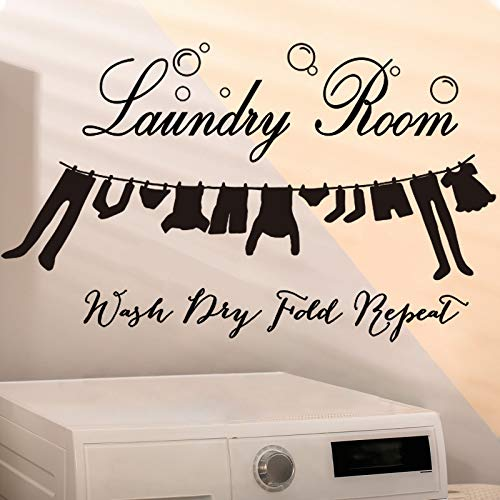 Laundry Room Vinyl Wall Decal Laundry Room Wall Quotes Decorations Bubble Sticker Decals Laundry Signs Wall Quote Sticker for Decoration Supplies, 15.7 x 26 Inch